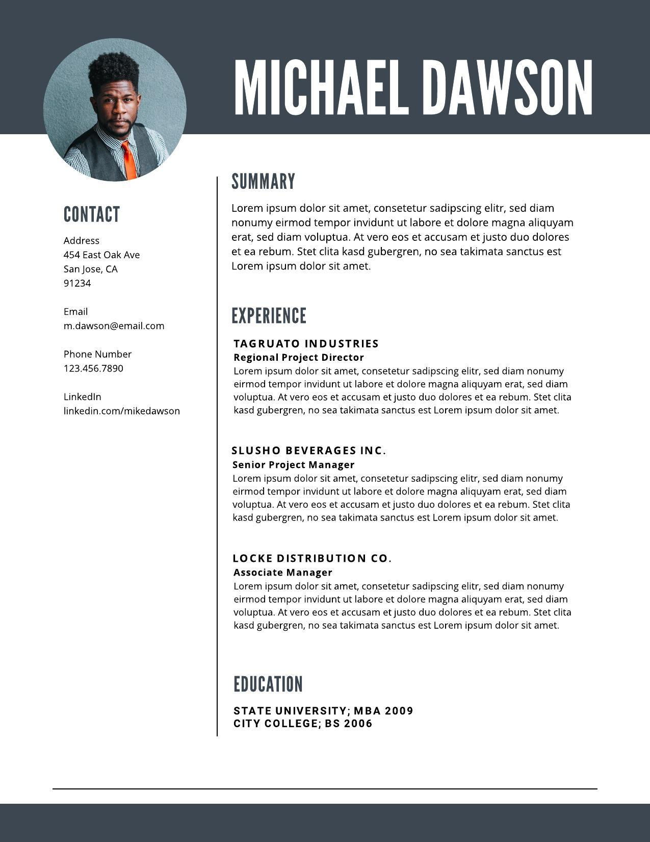 resume examples writing tips for lucidpress basic image04 most professional looking Resume Basic Resume Examples 2019