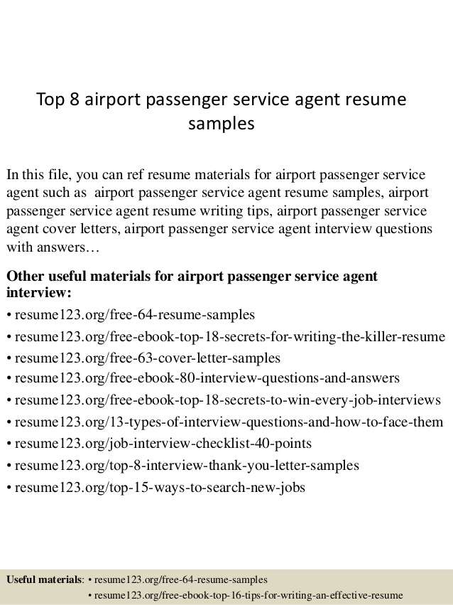 resume for airport jobs customer service representative top passenger agent samples Resume Airport Customer Service Representative Resume