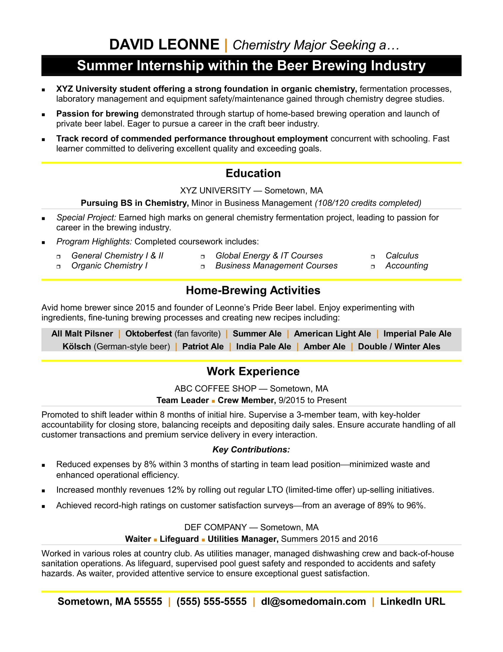 resume for internship monster template with experience cardstock paper software engineer Resume Resume Template With Internship Experience