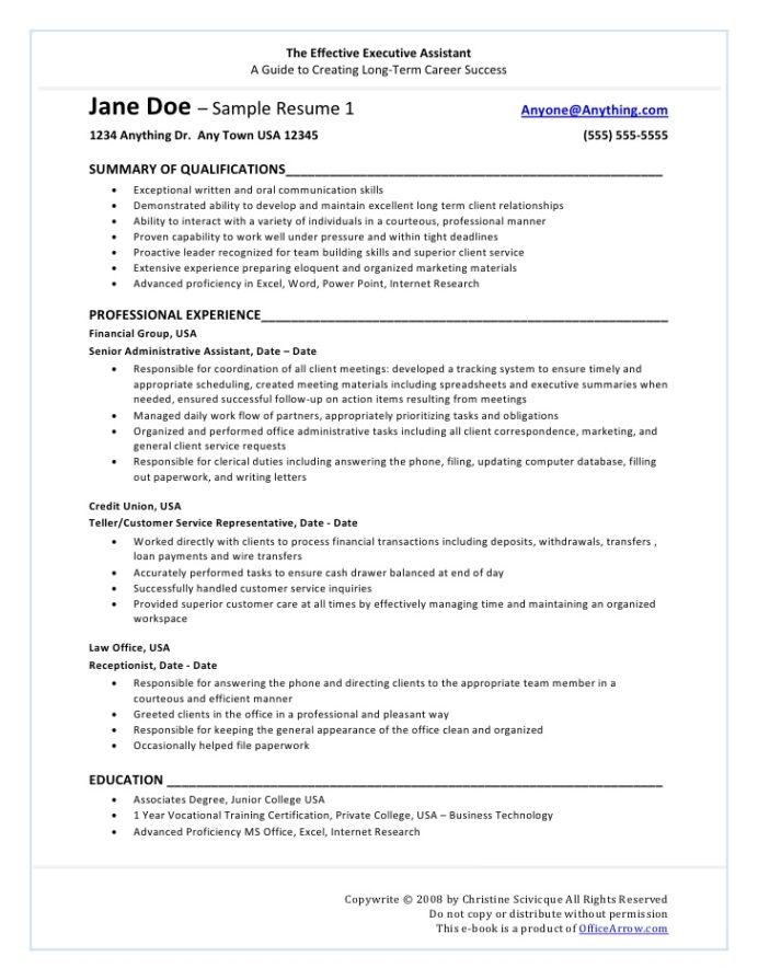 resume for one term job retail critical thinking skills ccna sample experience automobile Resume Resume For One Long Term Job