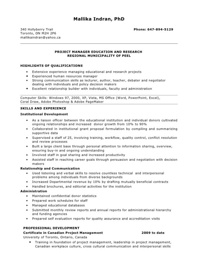 resume for project manager position clinical great additional skills free scan ats quikr Resume Clinical Project Manager Resume