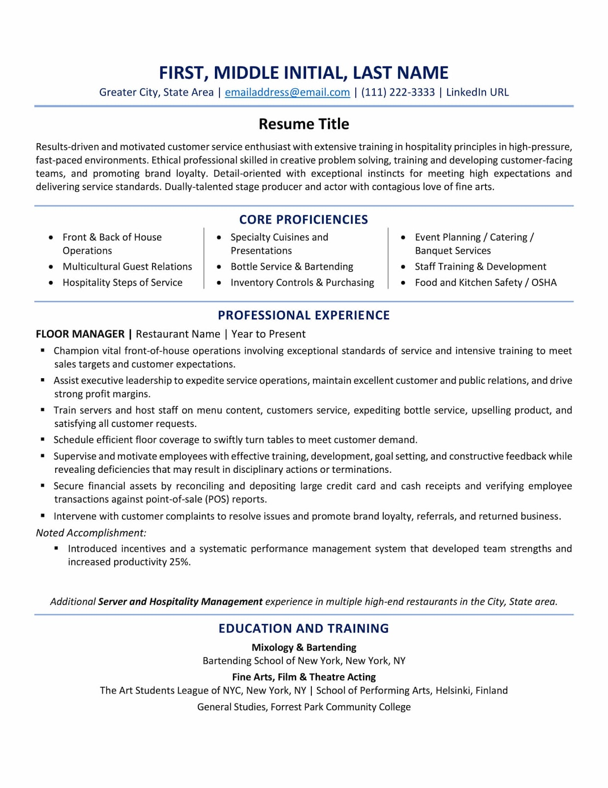 resume format best tips and examples updated sample recent college graduate bld guaynabo Resume American Resume Format Sample