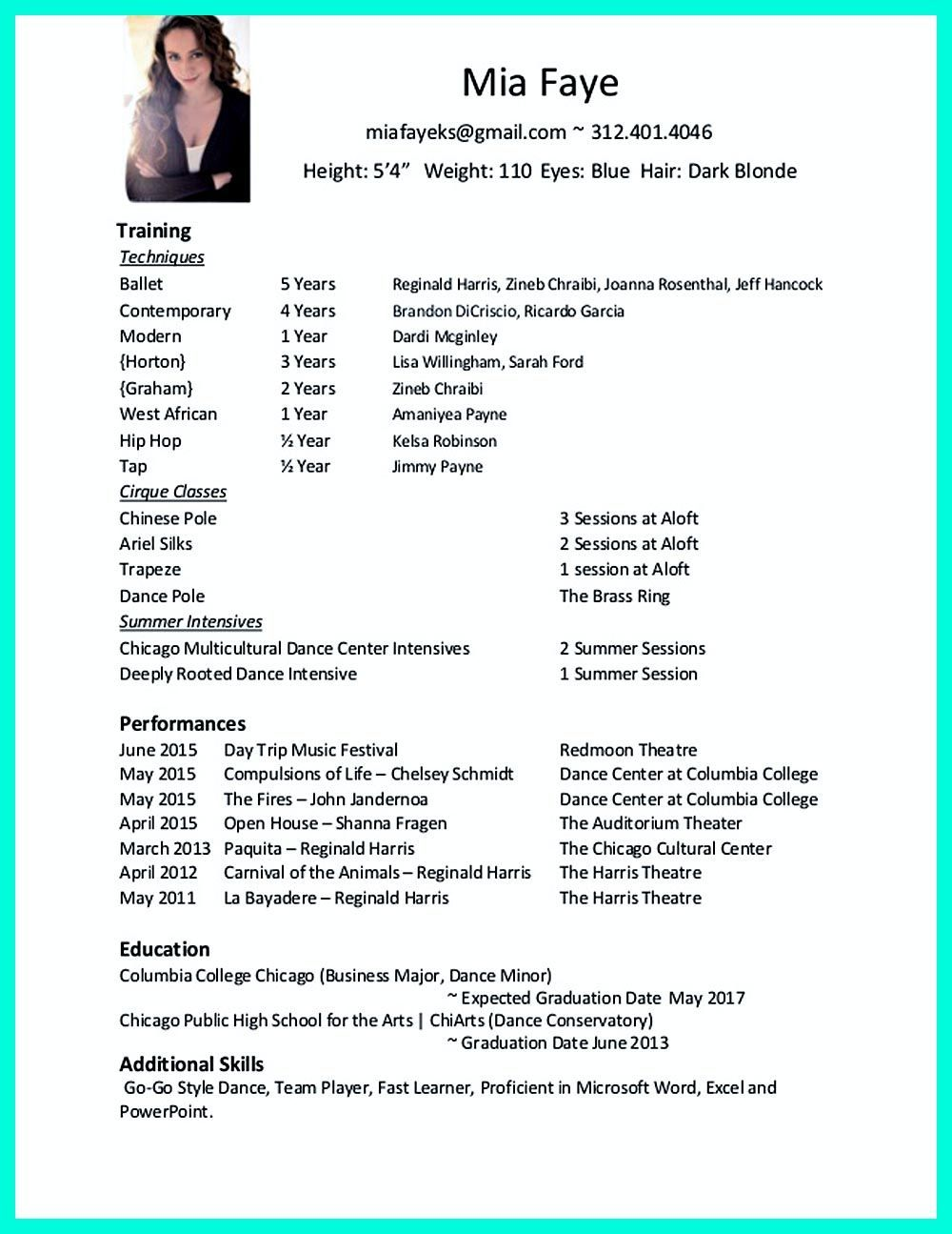 resume format for dance teacher free templates classical of tips hipaa experience skills Resume Resume Format For Classical Dance Teacher