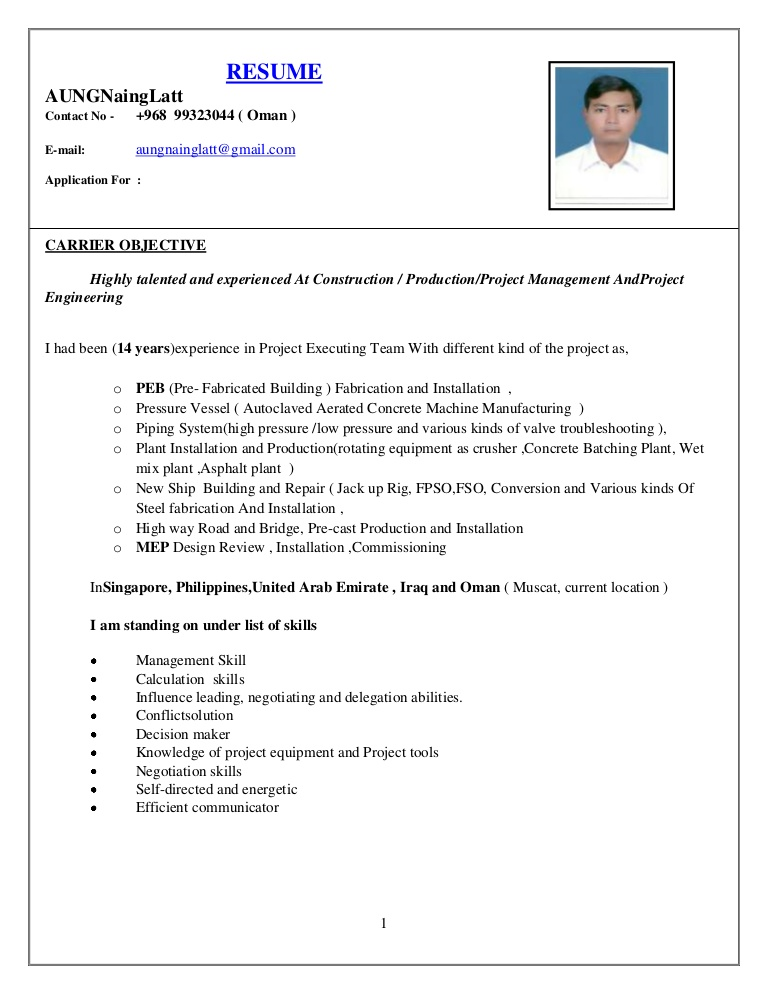 resume format for fresher deck cadet marine chief engineer sample cvmm phpapp01 thumbnail Resume Marine Chief Engineer Resume Sample