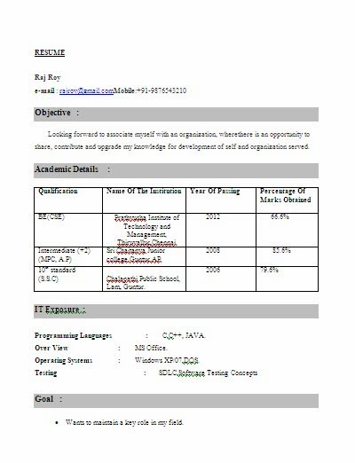 resume format for freshers engineers of computer science dental vantage dinh vo cse Resume Resume Format For Freshers Engineers Computer Science