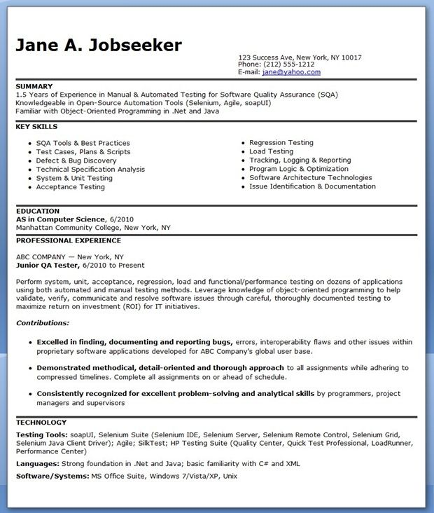 resume format for months experienced software engineer entry level tester sample law Resume Entry Level Software Tester Resume Sample