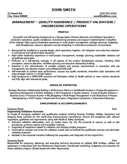 resume format quality control manager examples professional assurance chief digital Resume Quality Assurance Manager Resume