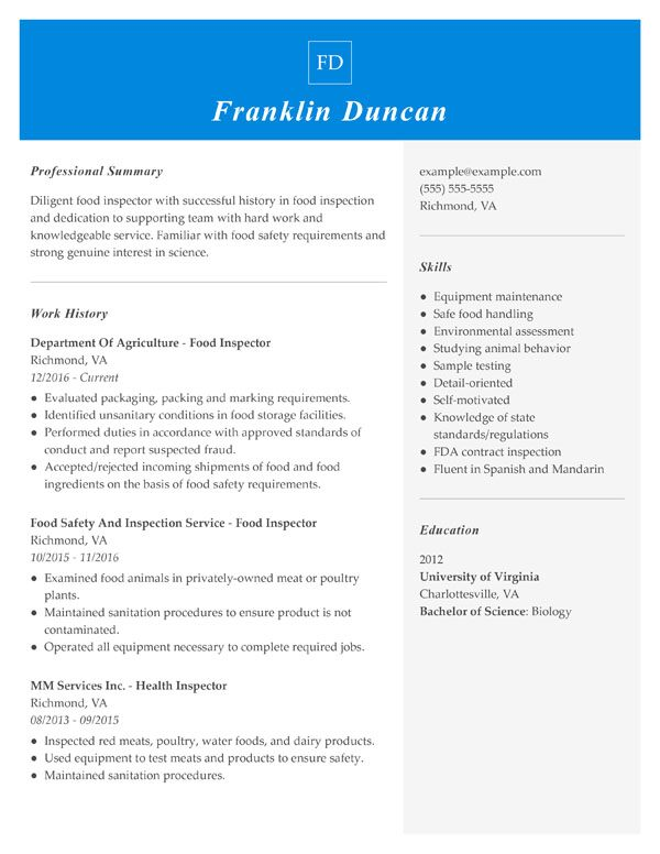 resume formats guide my perfect proper format combination food inspector assistant Resume Proper Resume Format 2019