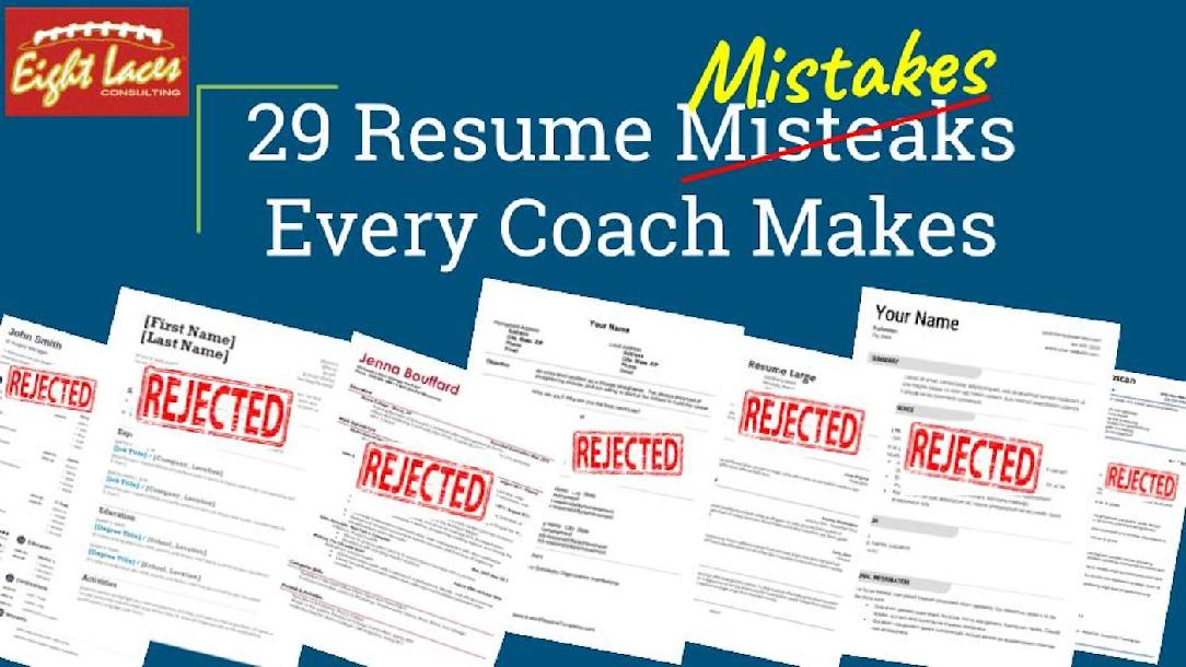 resume mistakes every coach makes and to avoid them by chris jeff the career business Resume Jeff The Career Coach Resume Mistakes