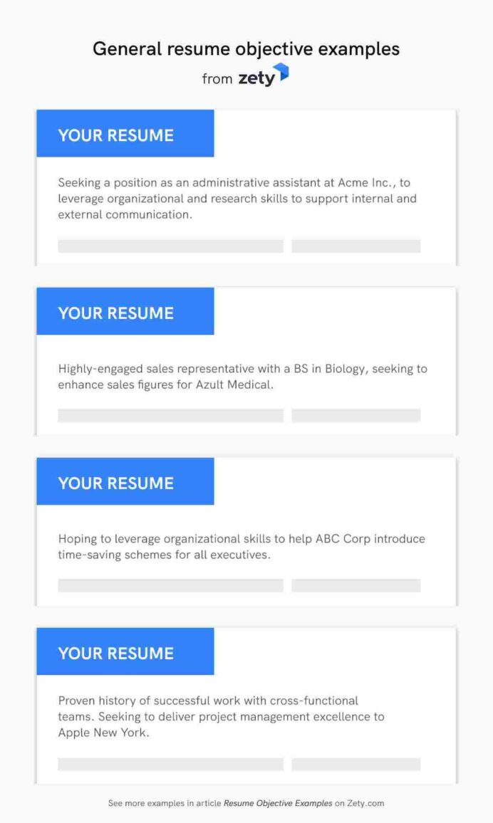 resume objective examples career objectives for all jobs first time samples general Resume First Time Resume Objective Samples