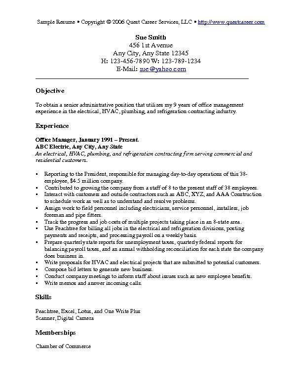 resume objective examples cv plumber excellent interpersonal skills sample warehouse Resume Plumber Resume Objective Examples
