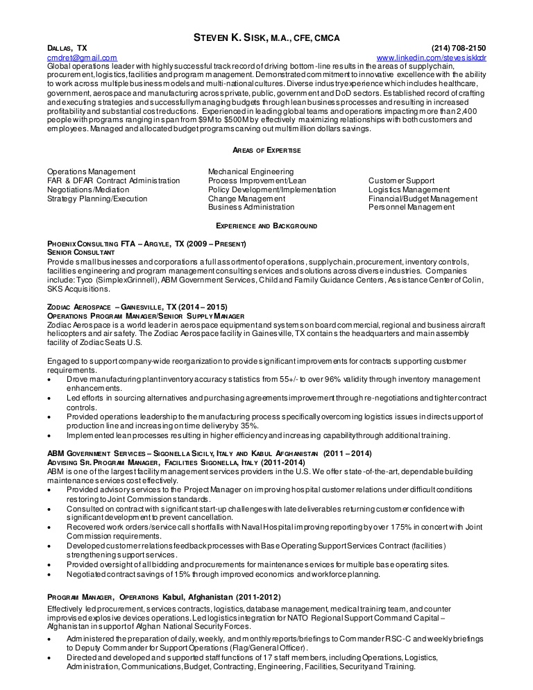 resume operations manager supply chain mgmt procurement contractin engineer lva1 app6892 Resume Supply Chain Engineer Resume