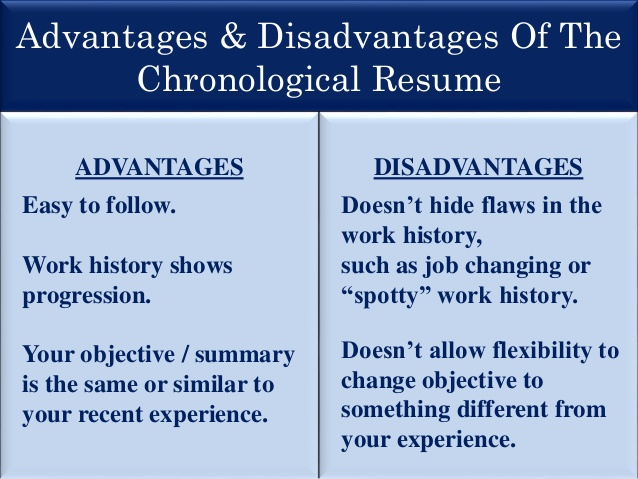 resume presentation chronological pros and cons technical layout watercolor community Resume Chronological Resume Pros And Cons