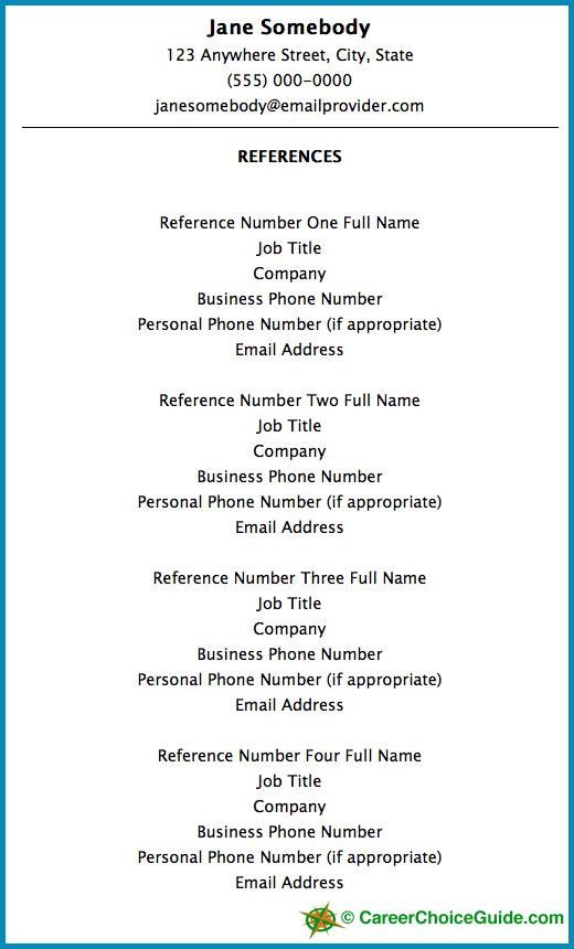 resume reference setup tips template references for job subject matter expert Resume Resume References Template Download