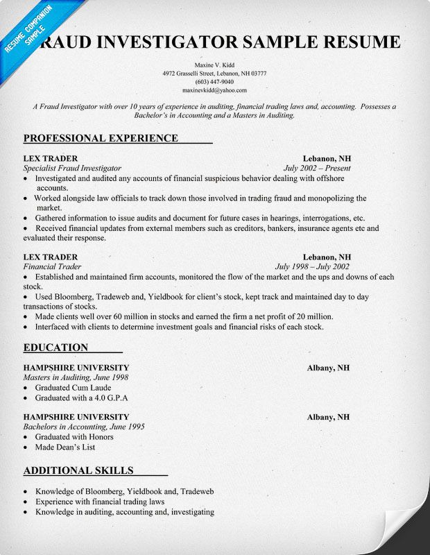 resume samples and to write companion artist makeup examples insurance investigator Resume Insurance Investigator Resume