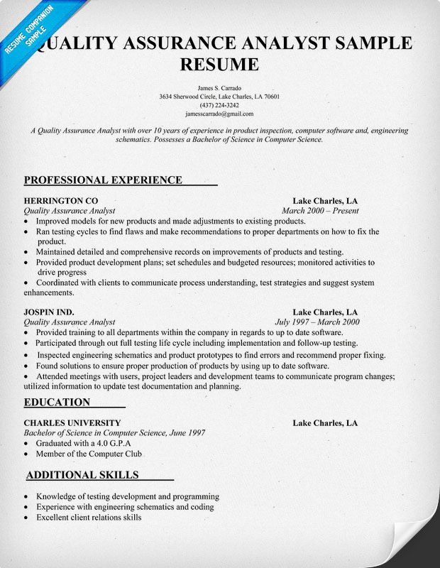 resume samples and to write companion job examples work quality assurance analyst sample Resume Quality Assurance Analyst Resume Sample