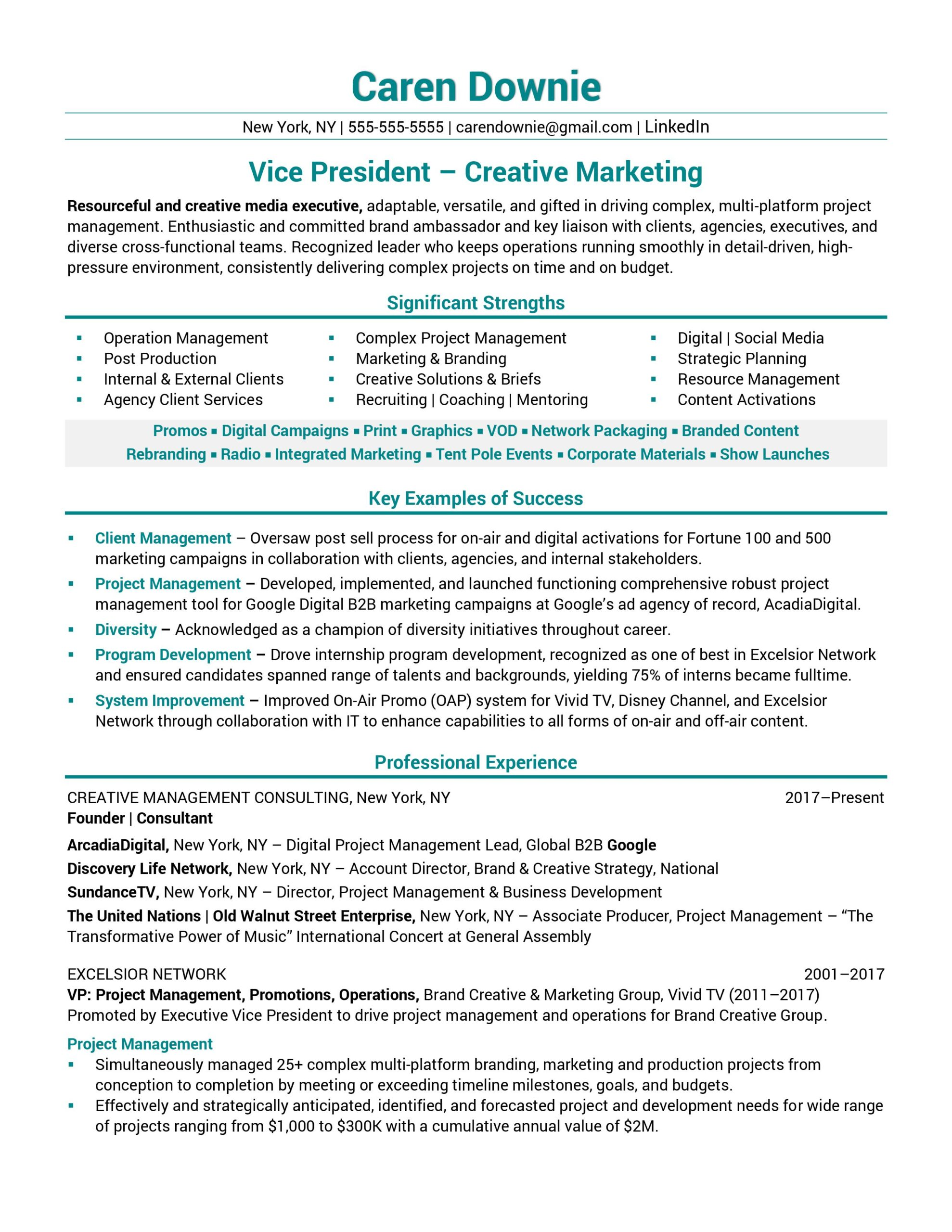 resume samples business examples vice president creative marketing sample best Resume Business Resume Examples 2019