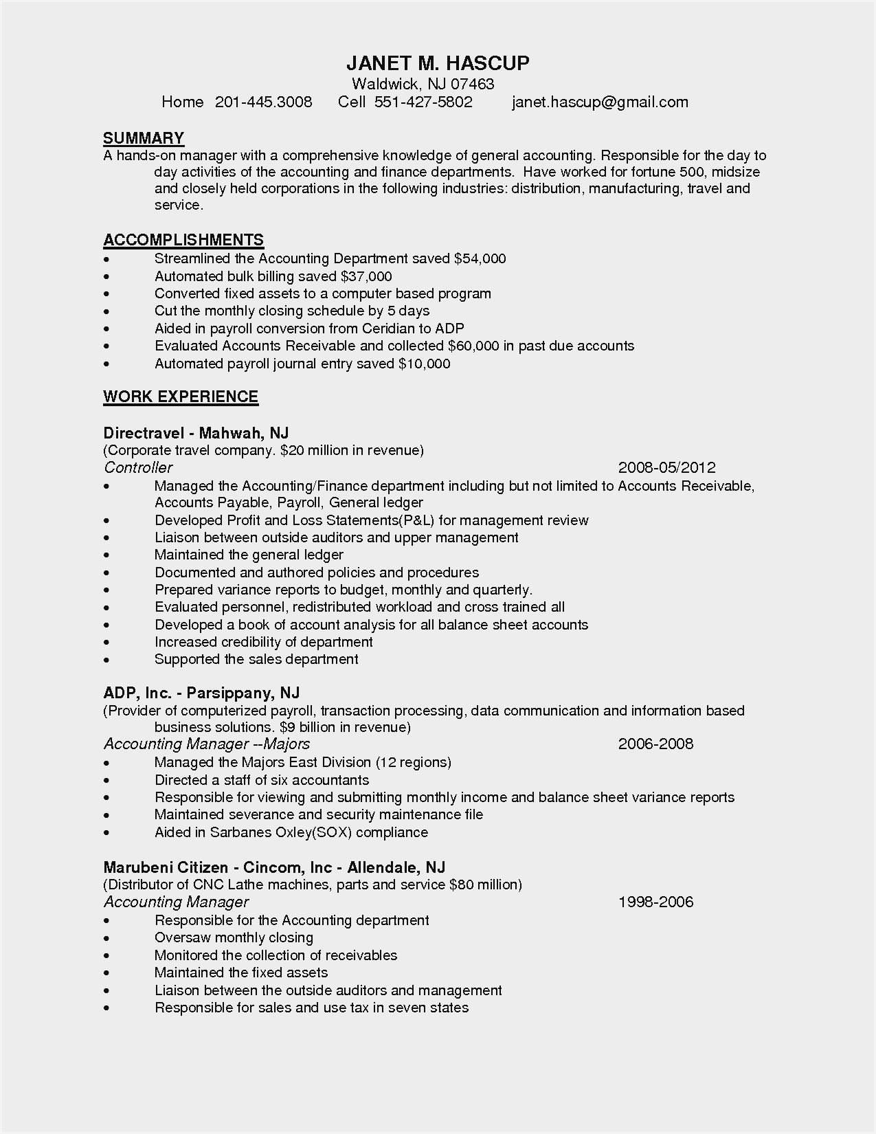 resume samples for accounts receivable manager sample college examples students graduate Resume Accounts Receivable Manager Resume