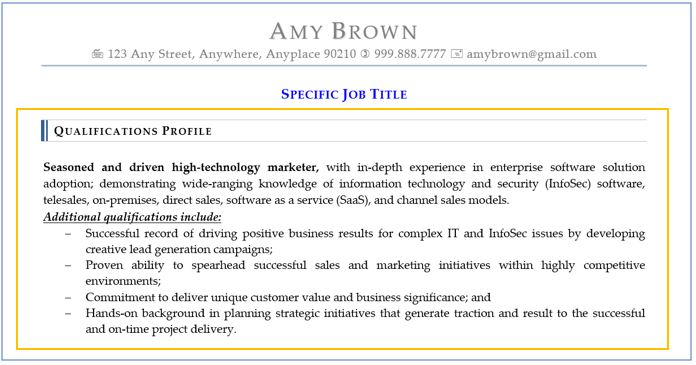 resume sections best ways to optimize qualifications and skills highlights of on amy Resume Highlights Of Qualifications On Resume