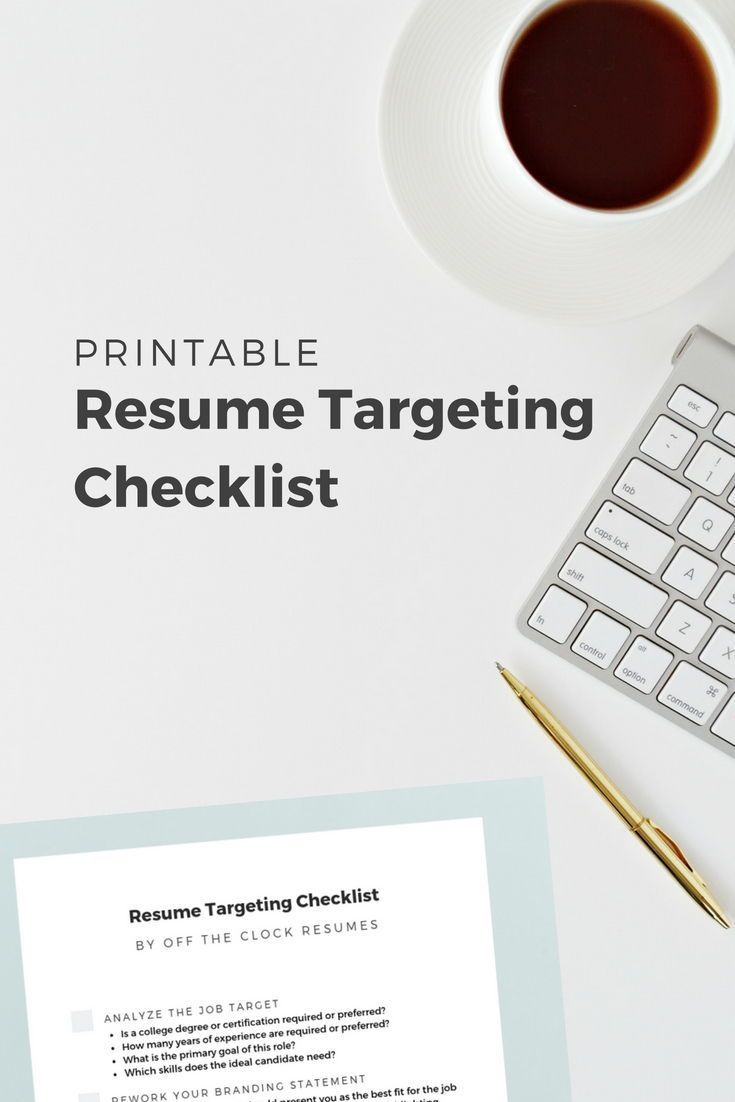 resume targeting checklist do it yourself examples professional writers for writing Resume Checklist For Resume Writing