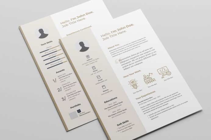 resume template by broluthfi on envato elements indesign layout adobe stock templates Resume Adobe Stock Resume Templates