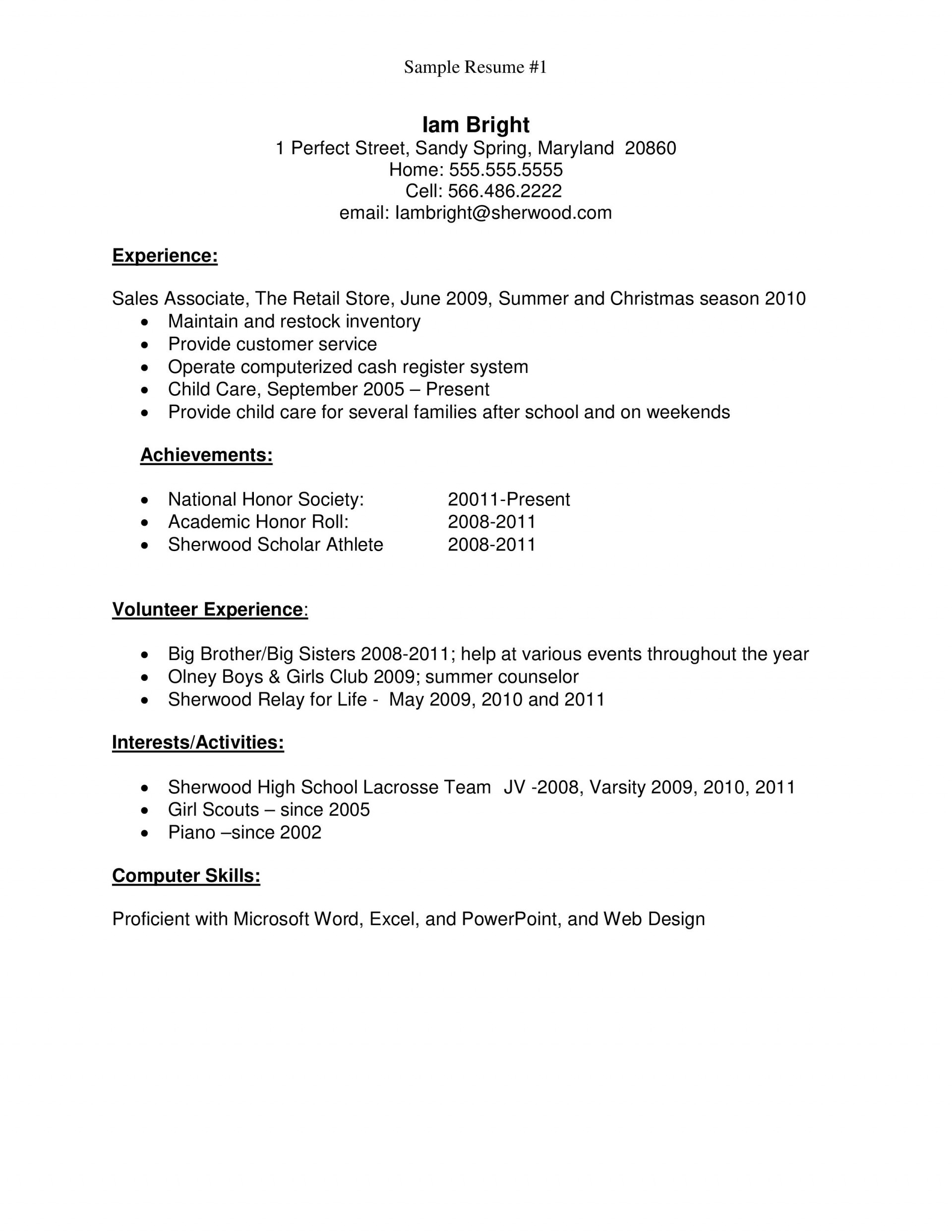 resume template high school students addictionary for student first job fascinating Resume Resume Template For High School Student First Job