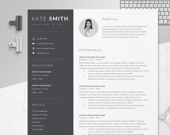 resume template one professional etsy single word il 570xn qvfk simple apartment service Resume Single Page Resume Word Template