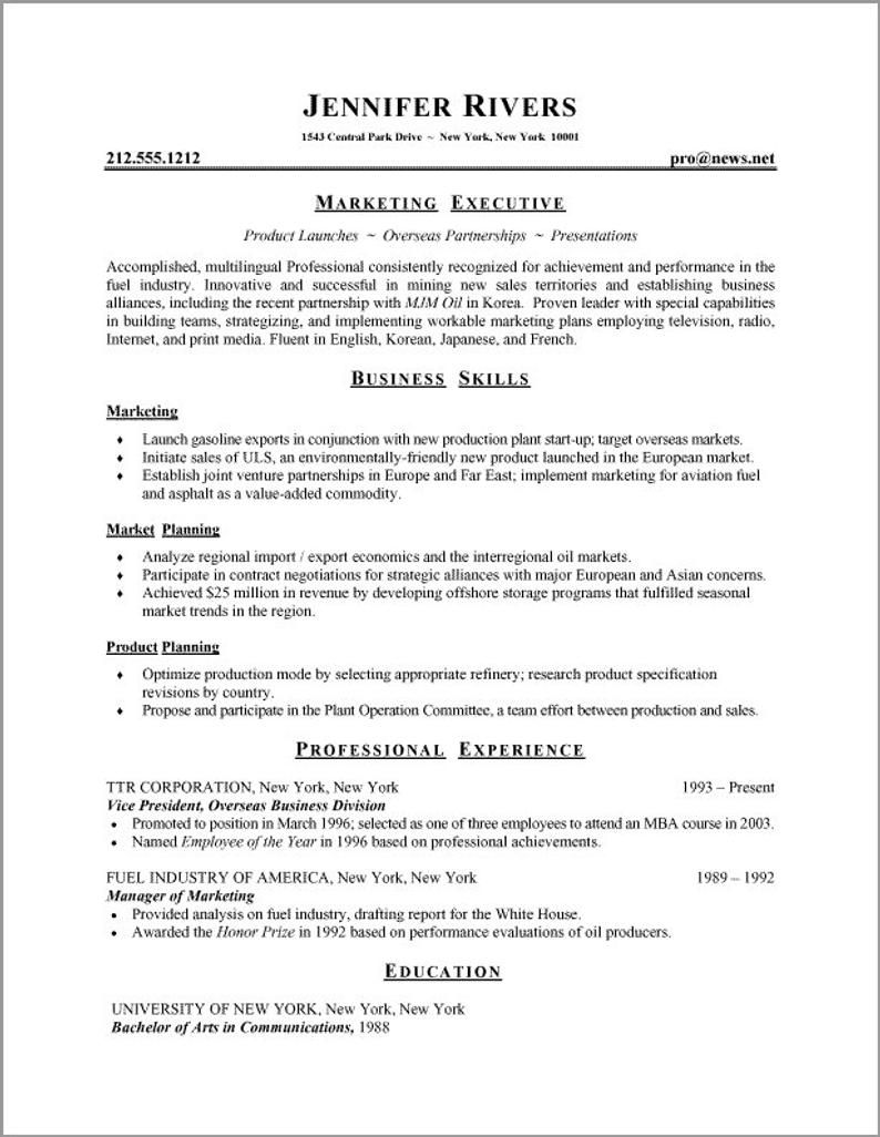 resume template professional instant etsy in best format examples job writing ux Resume Job Resume Writing Examples