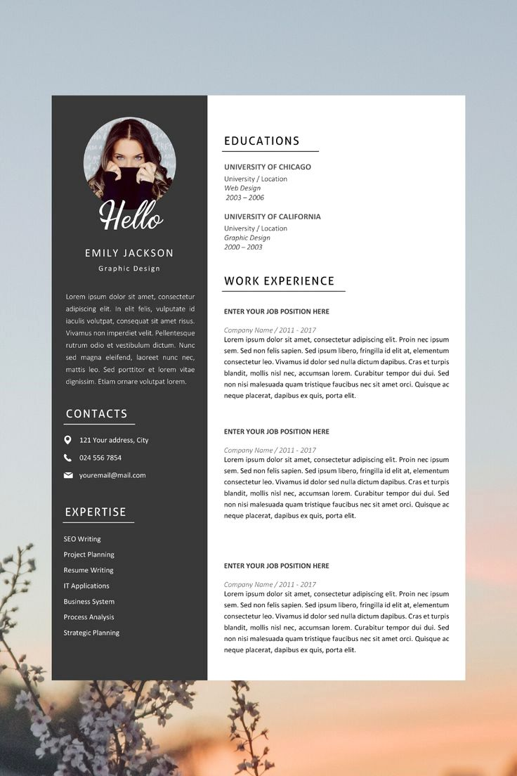 resume template with headshot photo cover letter word design diy cv in creative free Resume Free Resume Template With Headshot