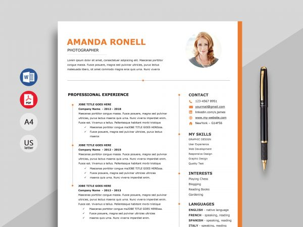 resume template word ipasphoto 600x450 closing statement sample itil certified examples Resume Resume 2019 Template Word