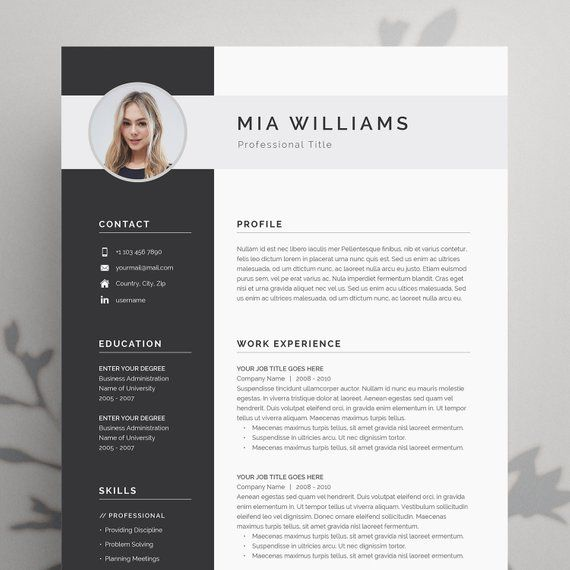 resume template word with photo etsy modern words microsoft templates grammarly writing Resume Microsoft Word Resume Templates Modern
