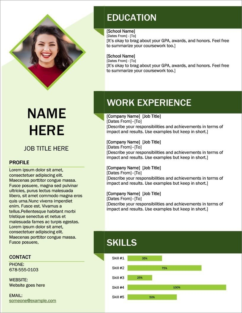 resume templates for microsoft word free format freshers with photo ms word22 aws skills Resume Free Download Resume Format For Freshers With Photo