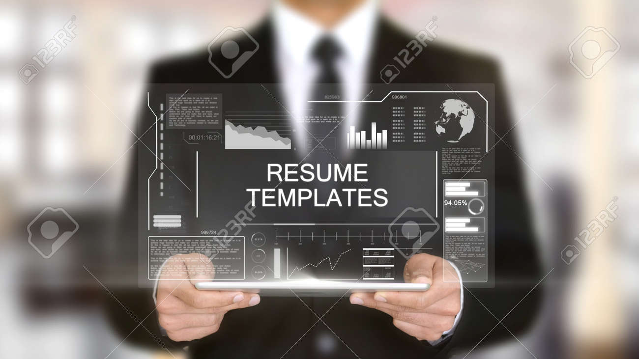 resume templates hologram futuristic interface concept augmented stock photo and royalty Resume Augmented Reality Resume