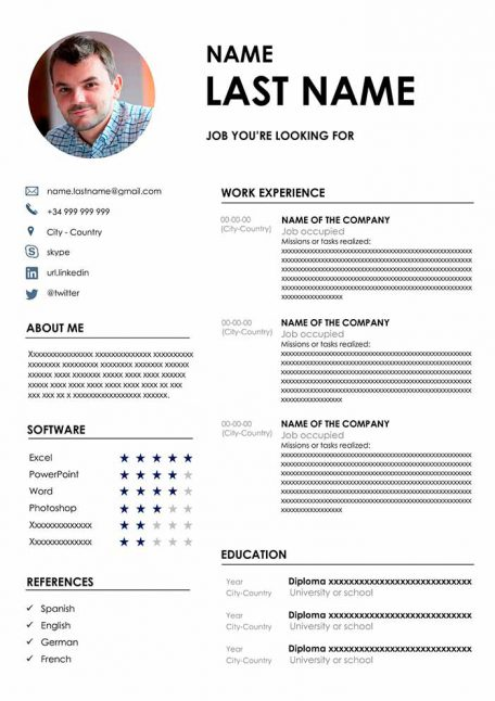resume templates in word free cv format professional template microsoft best 456x646 Resume Download Professional Resume Template Microsoft Word