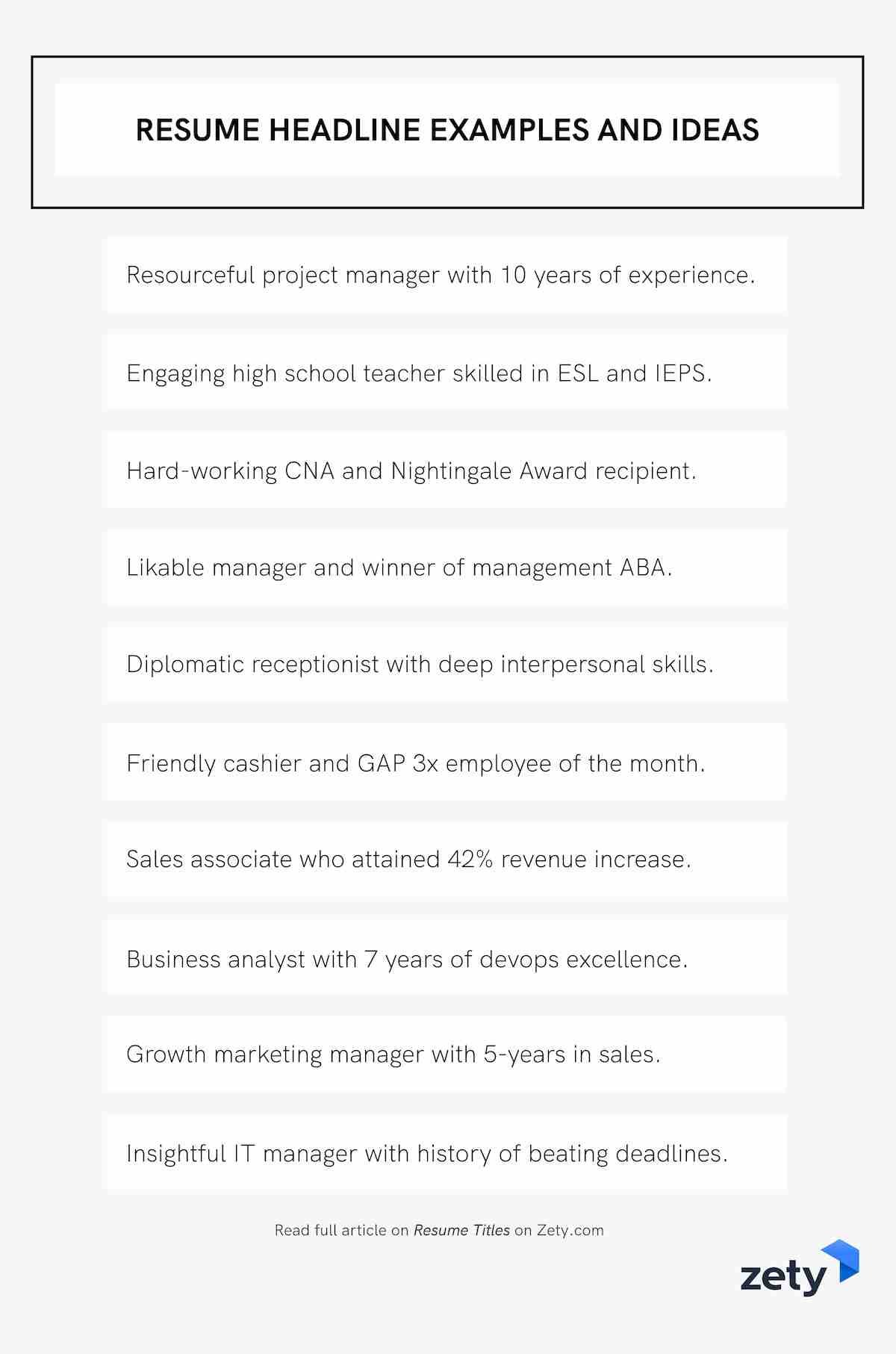resume title examples good headline for any or summary on and ideas administrative Resume Headline Or Summary On Resume