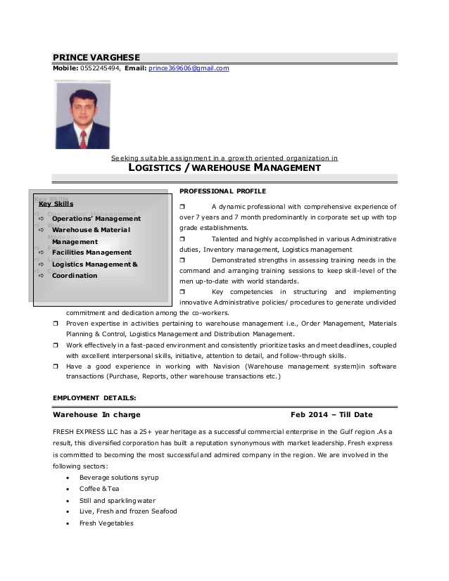resume warehouse incharge quality full detailed web services sample job hopper template Resume Quality Incharge Resume