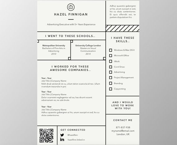 resume with qr code cover letter reference template for word creative instant free Resume Linkedin Qr Code On Resume