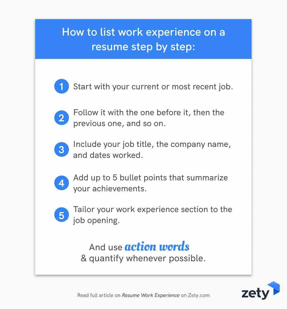 resume work experience history example job descriptions bullet points to on step by Resume Resume Job Bullet Points