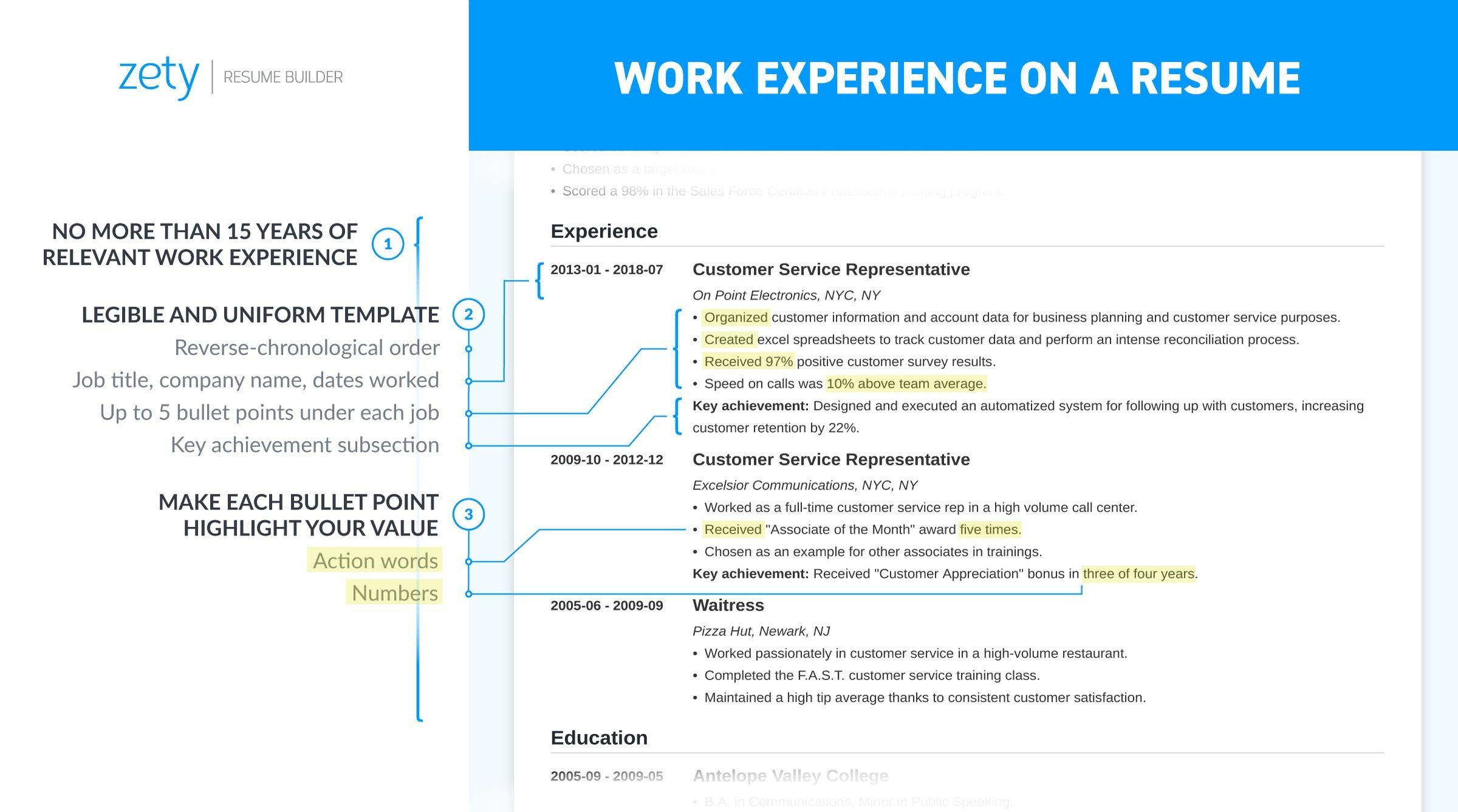 resume work experience history example job descriptions ideas for on all caps Resume Experience Ideas For Resume