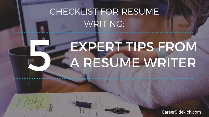 resume writing checklist steps to get your ready for today job market career sidekick Resume Checklist For Resume Writing