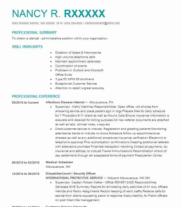 resume writing services in bend south service and writers for scheduler position builder Resume Resume For Scheduler Position