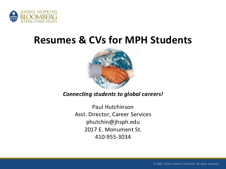 resumes and cvs for mph students fall public health professional resume phpapp01 Resume Public Health Professional Resume