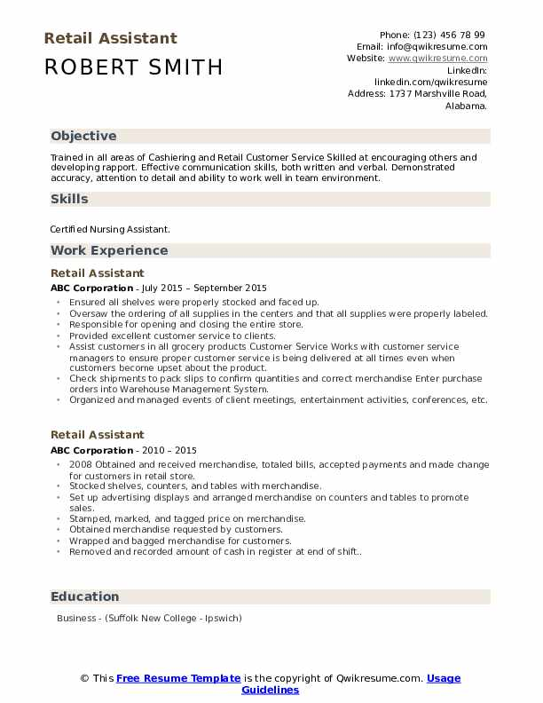 retail assistant resume samples qwikresume profile examples for pdf third mate great Resume Resume Profile Examples For Retail