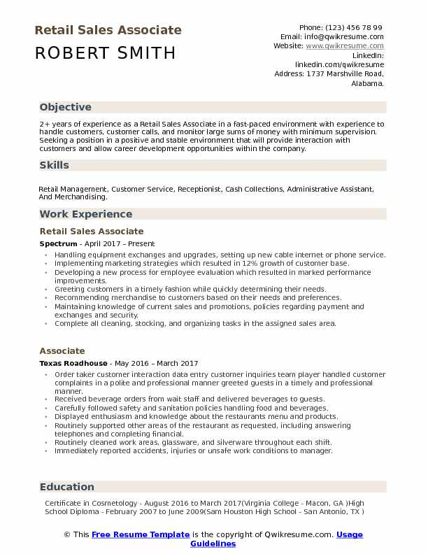 retail associate resume samples qwikresume profile examples for pdf summary of Resume Resume Profile Examples For Retail
