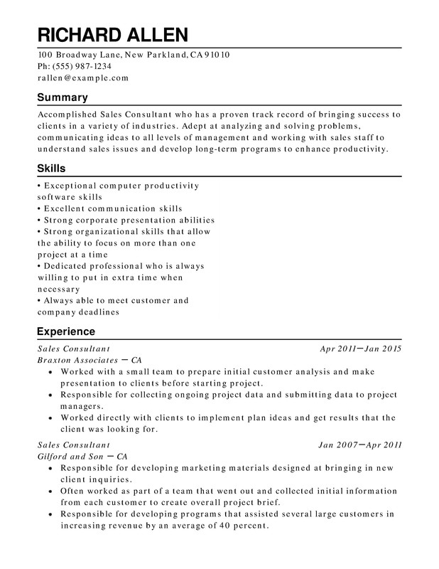 retail functional resume samples examples format templates help with one term job Resume Resume With One Long Term Job