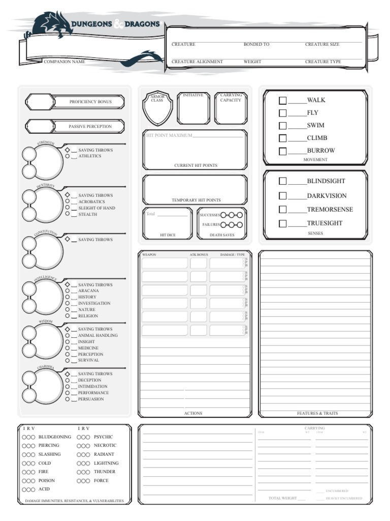 revamped companion role playing games character sheet resume financial modelling skills Resume D&d Character Sheet Resume