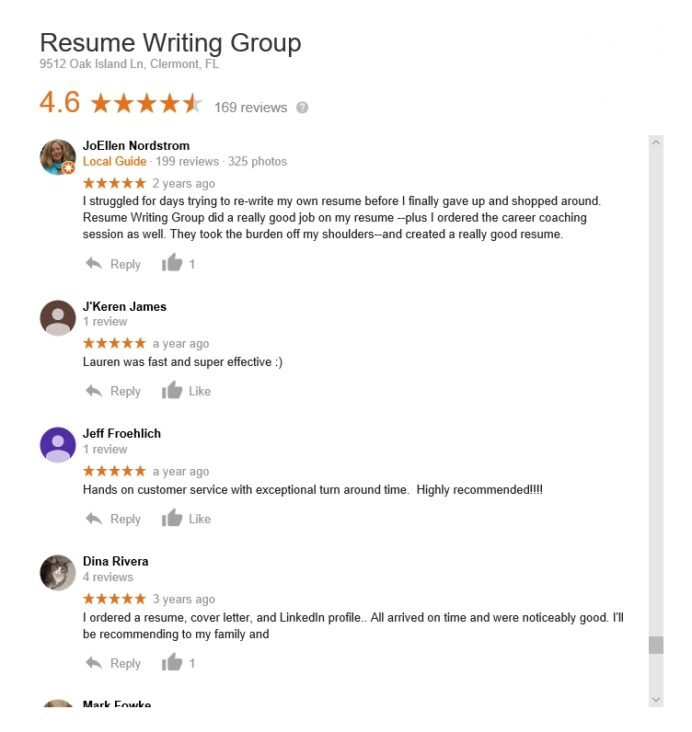 reviews of resume writing companies the best services review group basic information for Resume Review Resume Writing Group