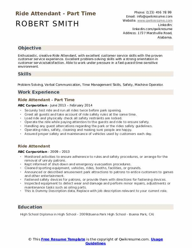 ride attendant resume samples qwikresume high school degree on pdf production assistant Resume High School Degree On Resume