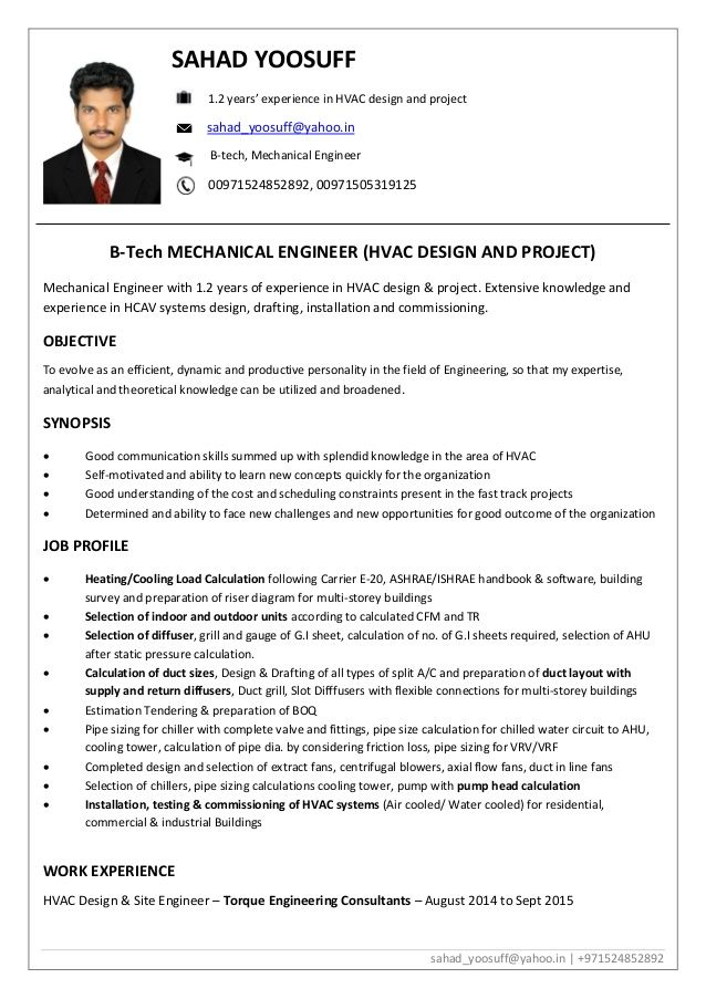 sahad yoosuff yahoo in years experience hvac design and pro engineering resume engineer Resume Electrical Testing And Commissioning Engineer Resume