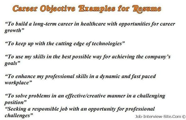 sample career objectives examples for resumes resume objective good goal statement Resume Career Goal Statement For Resume